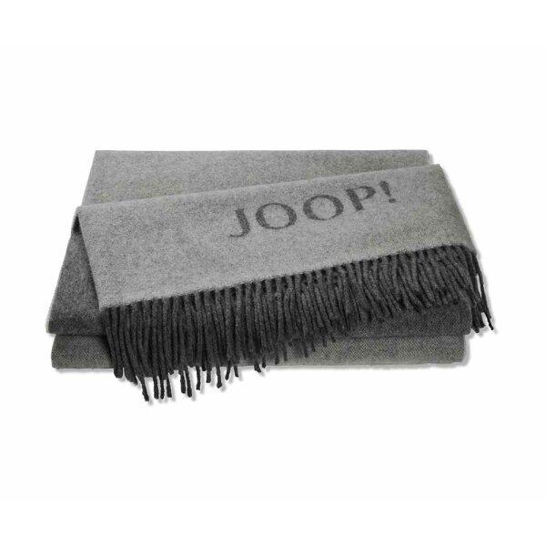 JOOP! Wohndecke Fine Doubleface Graphit-Schiefer I 130x180