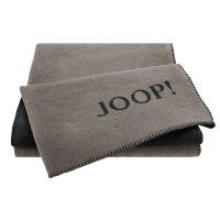 JOOP! Wohndecke Uni Doubleface Taupe-Anthrazit I 150x200