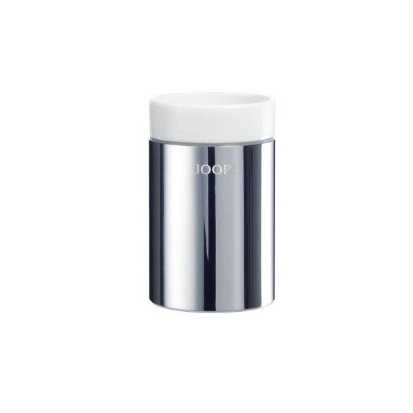 JOOP! Chromeline Mundbecher Chrom/Keramik weiß