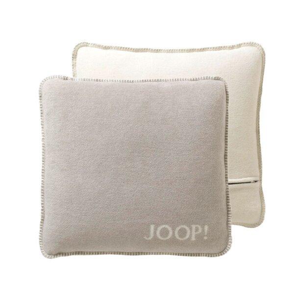 JOOP! Kissenhülle Uni-Doubleface Feder-Ecru I 50x50