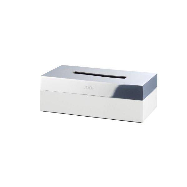 JOOP! Chromeline Kleenexbox Chrom/Weiß