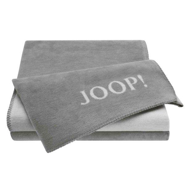 JOOP! Wohndecke Uni Doubleface Graphit-Rauch