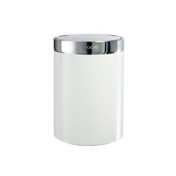 JOOP! Chromeline Badeimer mit Schwingdeckel Chrom/Weiß