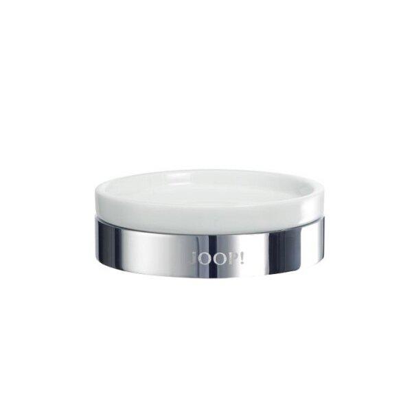JOOP! Chromeline Seifenschale Chrom/Keramik weiß