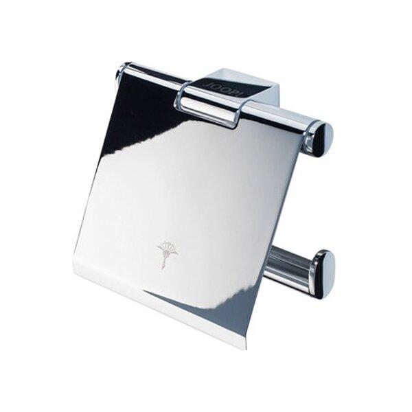 JOOP! Bathline Toilettenpapierhalter mit kippbarem Deckel chrom