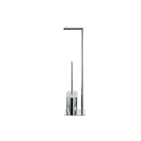 JOOP! Chromeline Freistehende WC-Bürstengarnitur Chrom/Keramik weiß