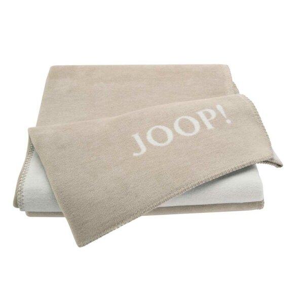 JOOP! Wohndecke Uni Doubleface Sand-Pergament